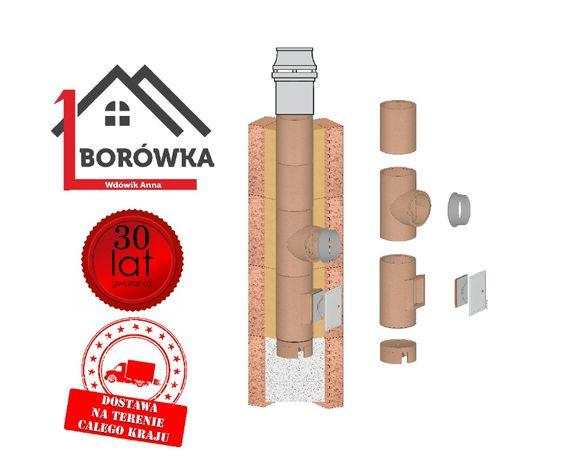 Komin systemowy ceramiczny wysokość 8m KW Fi 180/200 Standard
