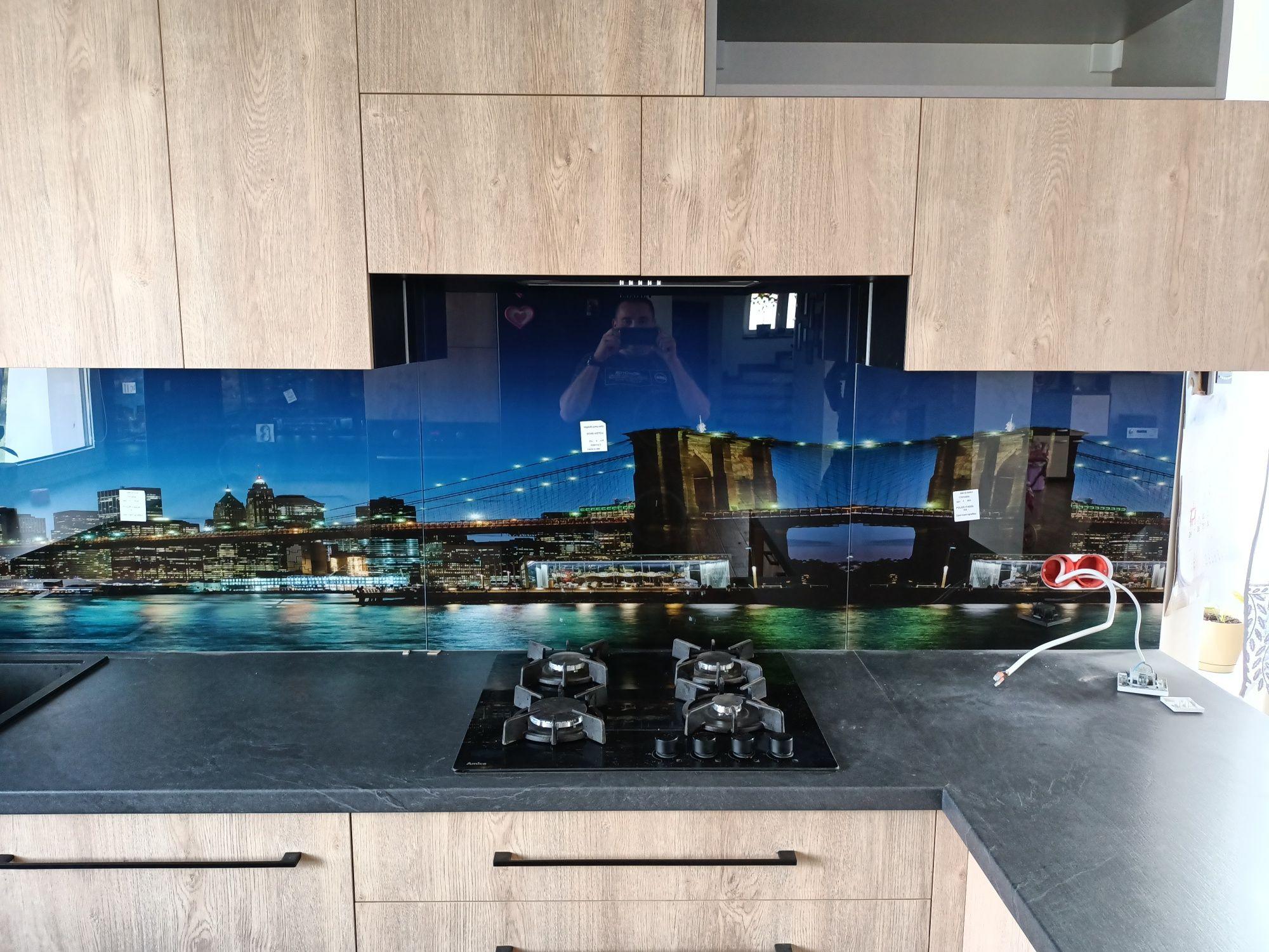 Szkło do kuchni, grafika na szkle, panele szklane, szkło na wymiar
