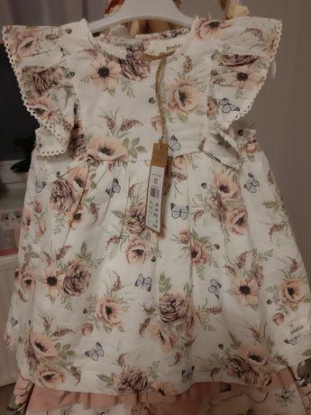 Sukienka newbie kwiatki motylki