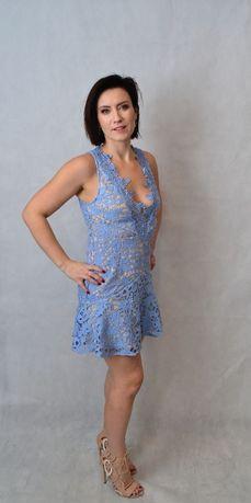 Wal G sukienka koronka roz. S błękit