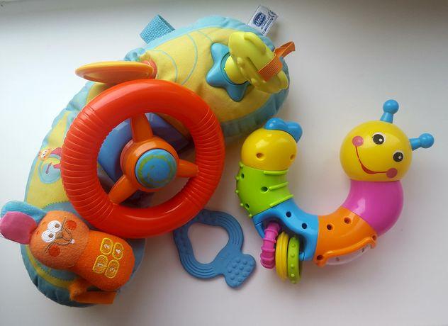 Chicco подвесная игрушка руль развивающая погремушка грызунок