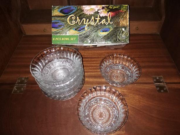 Pack 6 taças de cristal NOVAS na embalagem original