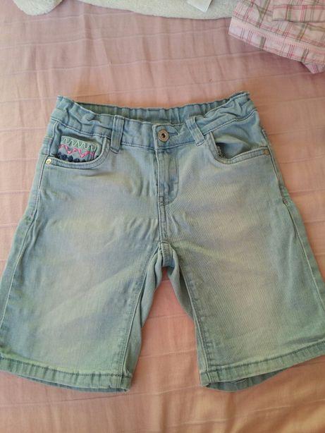 Krótkie spodenki spodnie jeans cool club 134 cm