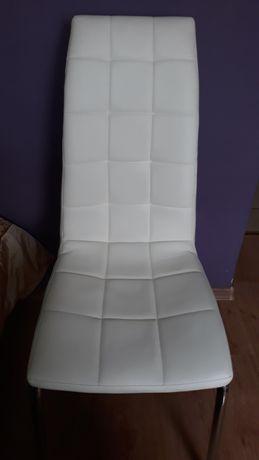 Krzesło białe ekoskóra, stan bdb