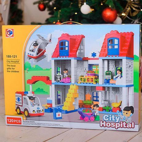Конструктор 188-121 «Больница» пункт скорой помощи, 120 крупных дет