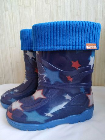 Детские ботинки дождевые непромокаемые