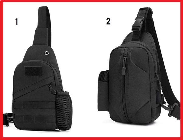 Тактическая сумка с USB / бананка / рюкзак / мужская / EDS слинг