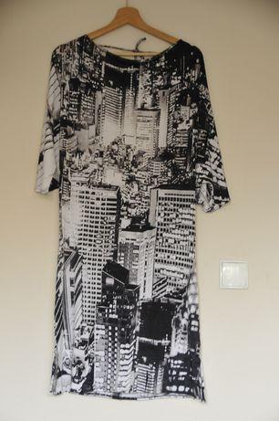 Sukienka biało- czarna La Perla
