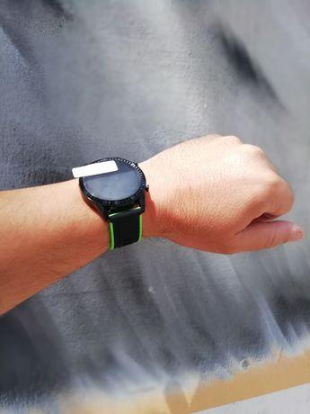 Relógio Smartwatch com chamadas via bluetooth (novo) preto e verde