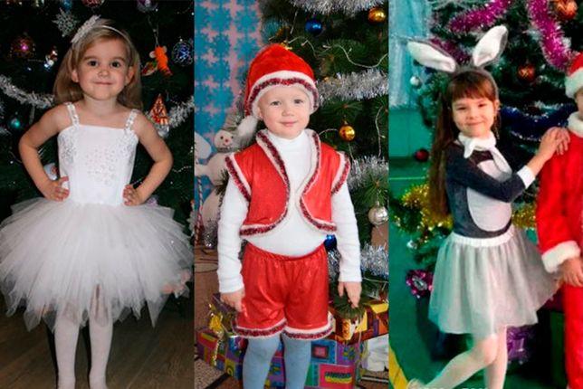 Прокат костюмов снеговик, волк, заяц, зайчик, снежинка, елочка