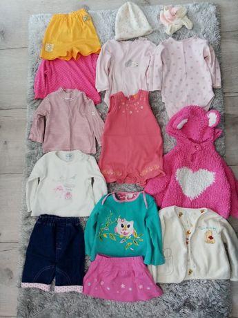 Paka ubrań dla dziewczynki 0-6 miesięcy, w tym ubranko do chrztu