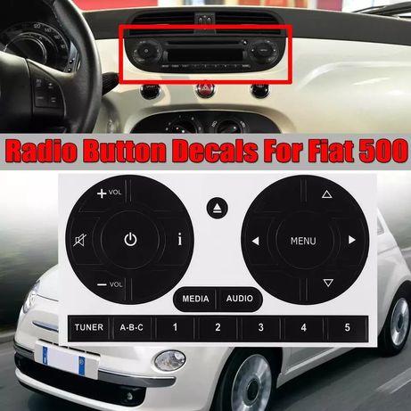 Kit Reparação de botões radio em vinil para Fiat 500