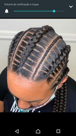 Faço tranças africanas