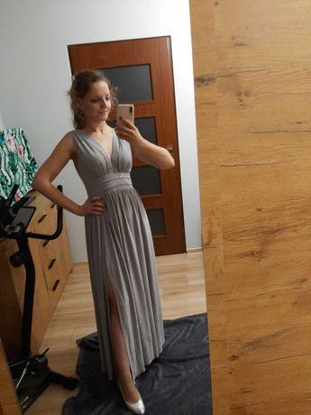 Długa sukienka wieczorowa r.36