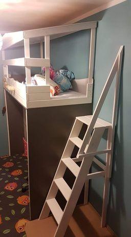 Pilnie !!Łóżko piętrowe z biurkiem . Ręcznie robione