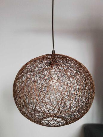 Lampa wisząca ABAKA brązowa