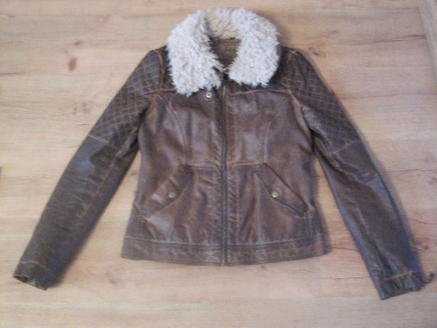 Skórzana kurtka Zara rozmiar L