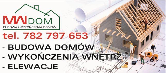 Budowa Domów, wykończenie wnętrz, wynajem rusztowań oraz stempli