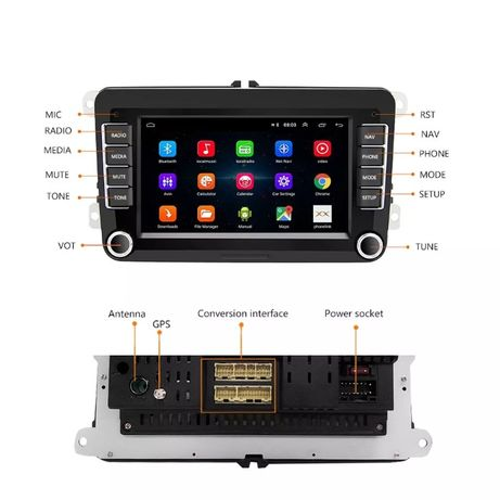 Магнитола 2Din Android с GPS для VW/Volkswagen/Golf/Passat/SEAT/Skoda
