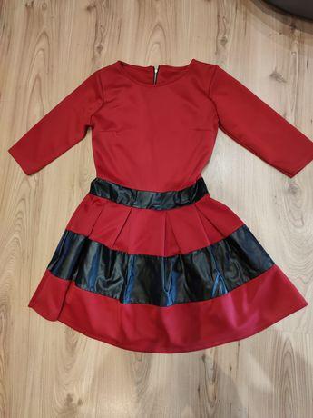 Sukienka czerwona S 36 zamek okazje