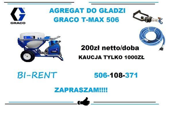 Wynajem agregat Graco T-max 506 Łódź Pabianice Koło Zgierz Łowicz