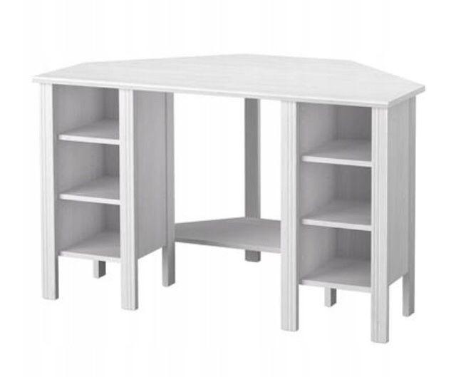 Ikea Brusali biurko narożne białe Siedlce - image 1