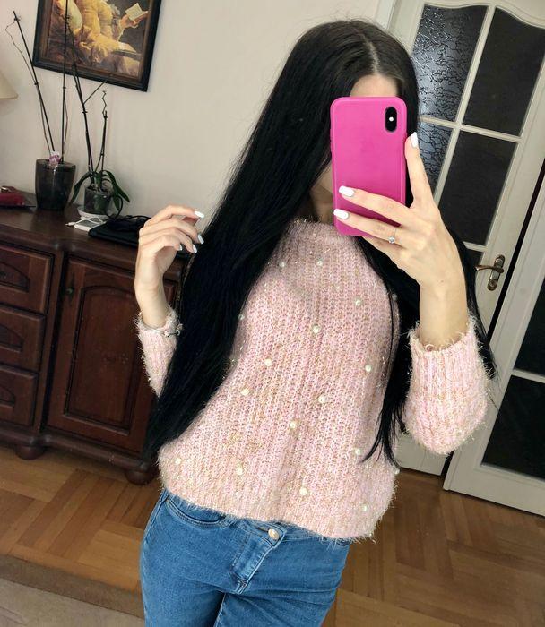 Розовый свитер с жемчужинами Полтава - изображение 1