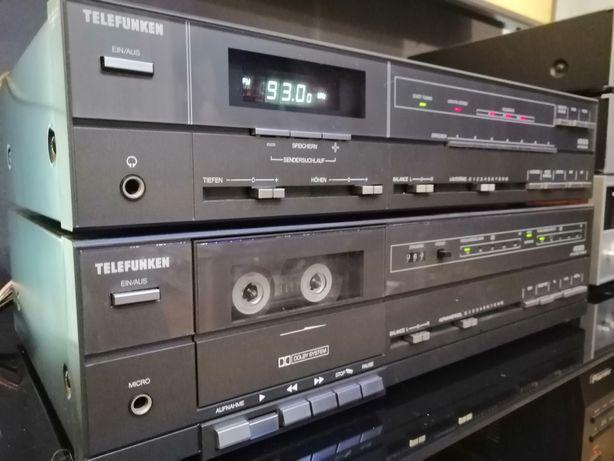 Zestaw wieża Telefunken Amplituner + Deck Retro Niemiecka kontruskcja