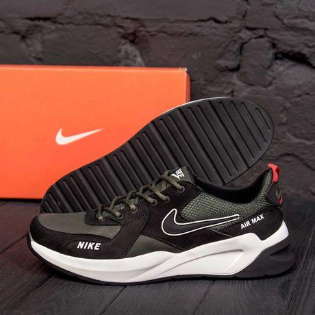 Мужские кожаные кроссовки Nike \ кроссовки . Обувь . Кеды