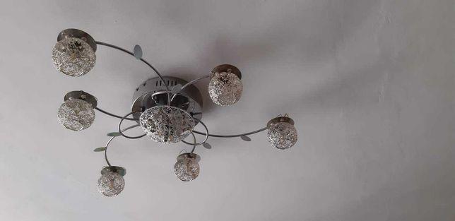 Nowoczesny żyrandol + halogeny LED