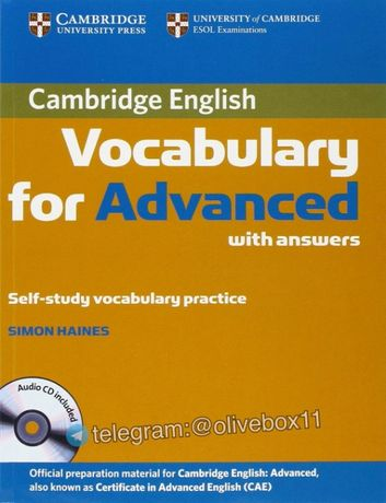 Vocabulary for Advanced CAE with Answers +Audio