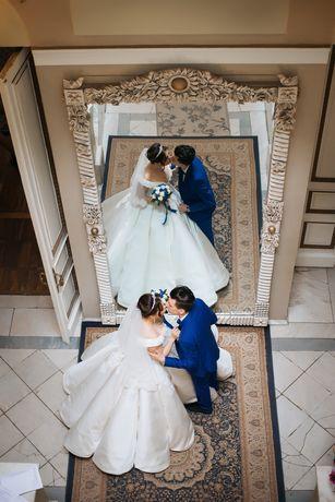 Свадебное платье королевское (трубы или кекс)Не венчаное!!!