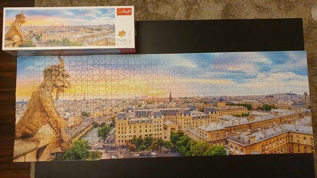 "Puzzle Panorama Paryża - 1000el. ""Widok z katedry Notre-Dame"" - Trefl"