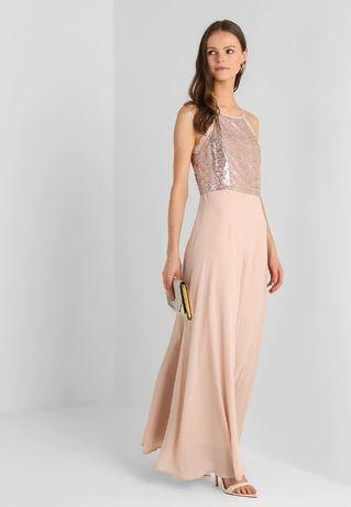 Sukienka wieczorowa Mint&Berry r.L pudrowy róż