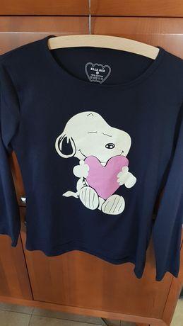 Snoopy z serduszkiem bluzka z długim rękawem 40 L/12