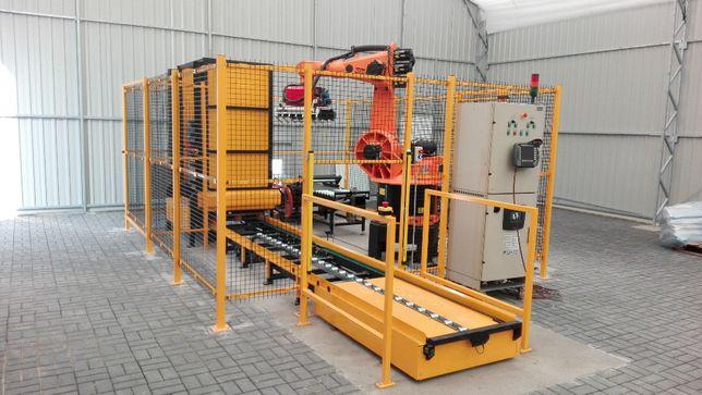 Stanowisko robot przemysłowy KUKA robotyzacja paletyzacja chwytak