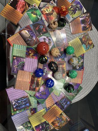 Bakugany 14 szt 9 kart magnetycznych, 27 papierowych.