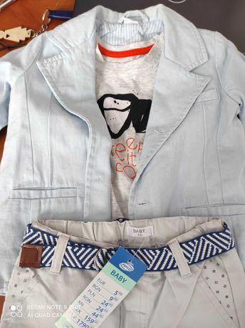 Ubranka dla chłopca 98,92 ,marynarka,3 pary spodni,koszulki,koszula