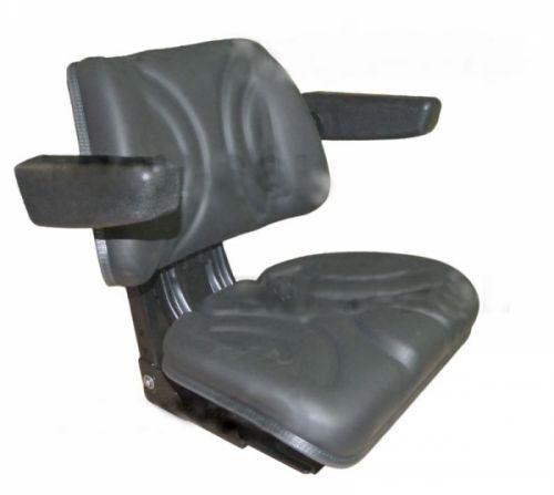 Siedzenie amortyzowane dwuczęściowe czarne do ciągników rolniczych