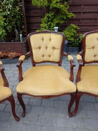 4 Fotele , krzesła w stylu Ludwikowskim