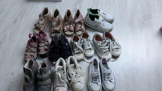 Buty dziecięce w różnych rozmiarach