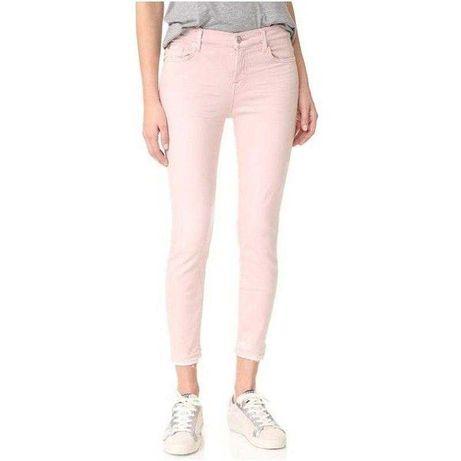 Скини нежно розовые персиковые джинсы брюки штаны xs-s