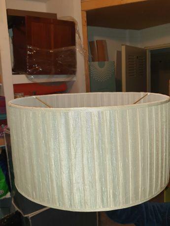 Abajur de teto/mesa e dois apliques em seda