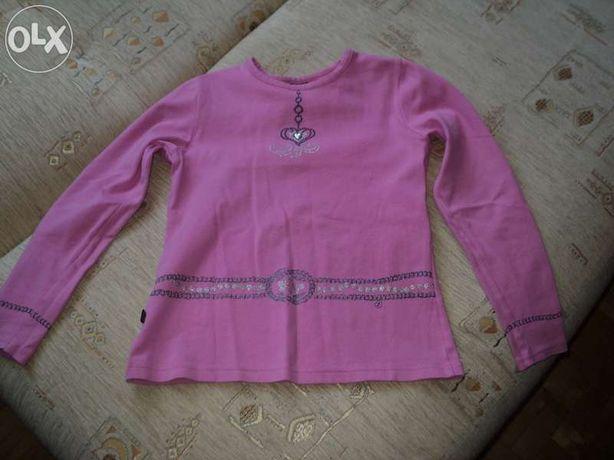 bluzka różowa falbanki długi rękaw roz. 146