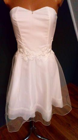 Sukienka ślubna krótka biała