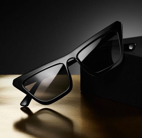 Czarne okulary kocie Meller z Barcelony. Nowe