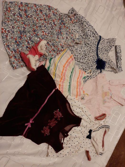 Mega paka dla dziewczynki 91 szt. rozm 62-68+ strój kąpielowy Gorzów Śląski - image 1