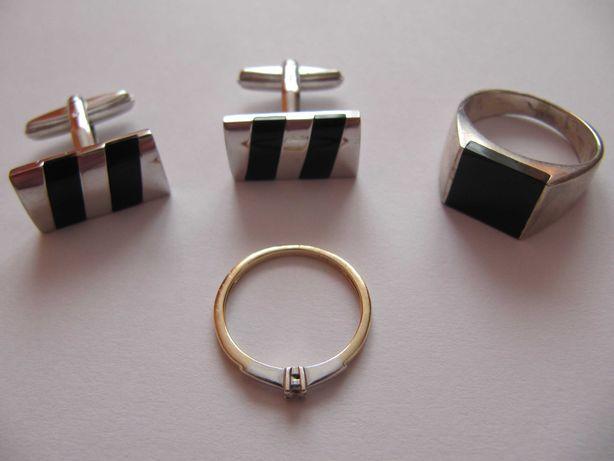 złoty pierścionek z diamentem – jak nowy