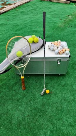 Taco de golfe + bola + 2 pino