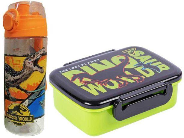 Набор Мир Динозавров. Ланч бокс (контейнер) и бутылка, для мальчика